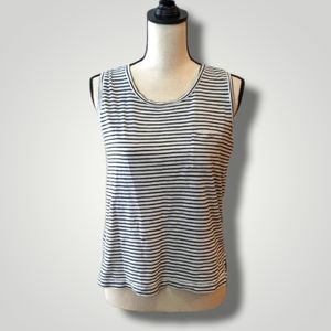 Madewell Navy & White Striped Tank Size S